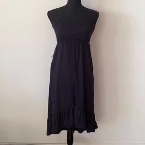 Roxy Girl Strapless Hi-Lo Midi Dress Navy AU 12